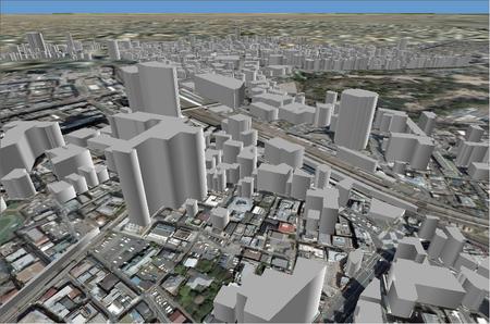 変換後のデータは、見通し解析や建物の影を作成したりと、高さを考慮した解析に利用することができます。また、ArcGIS 10 では編集にも対応しています