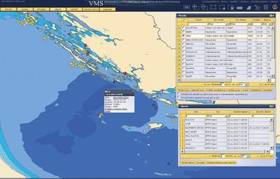 漁船の操業状況をあらわしたマップ