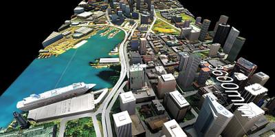 CityEngineで作成されたホノルル市の景観