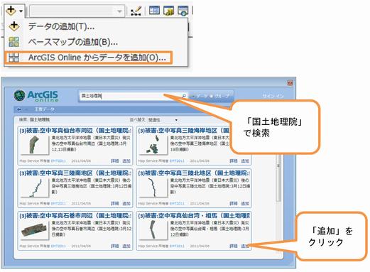ArcGIS Online からの利用