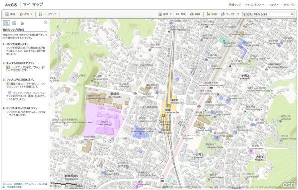 ArcGIS Online マップ ビューアーでの表示