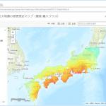南海トラフ巨大地震の被害想定を地図上に可視化しました
