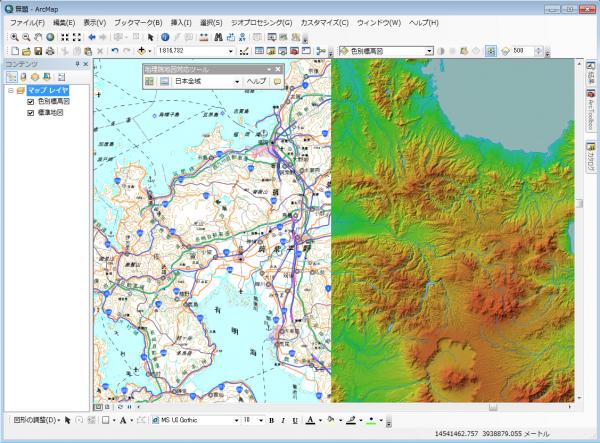 地理院地図表示例