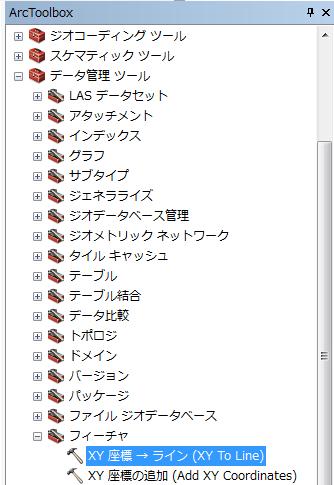 XY 座標 →ライン