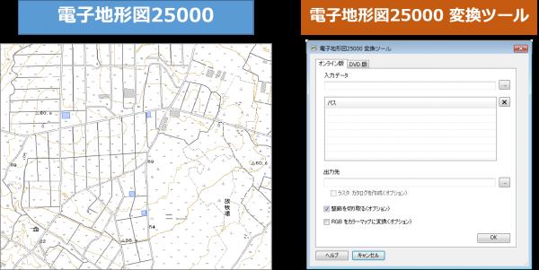 電子地形図 25000 変換ツール