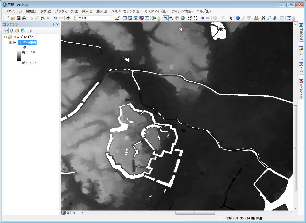 基盤地図情報データの変換と活用のコツ!- 数値標高モデル(5m)の活用