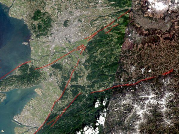 熊本地震の地理院地図