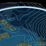 台風時の等圧線を 3Dで表現してみました!