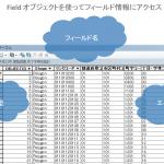 データ処理に役立つ Python コード例 その2:Field オブジェクトを使ってデータのフィールド情報にアクセスする方法