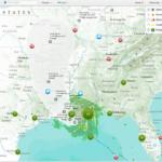 ハリケーン「アイザック」を GIS で確認する