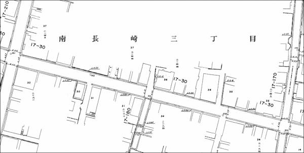 手書きの道路台帳図