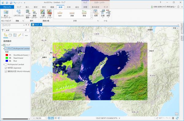 クリップ後の Landsat 画像