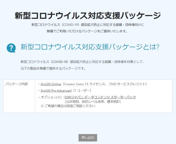 新型コロナウイルス対応支援パッケージ