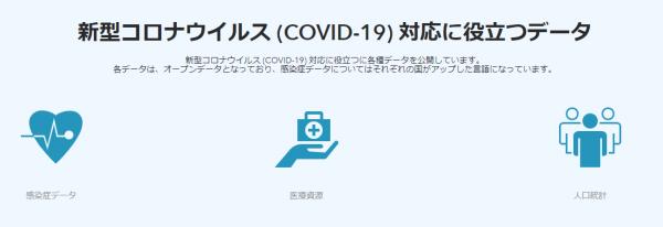 新型コロナウイルス (COVID-19) 対応に役立つデータ