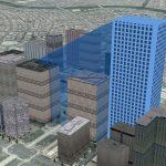 3D Analyst で建物の影を作成するシャドウ ボリューム