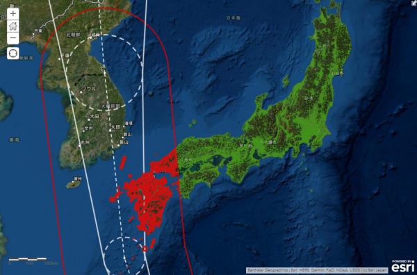 台風の進路予測